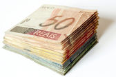 Brazilian money pile — Stock Photo
