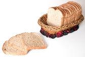 Il pane in un cestino — Foto Stock