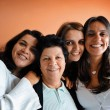 Stock Photo: Brazilian Family mom and daughters
