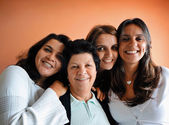 Brazilian Family mom and daughters — Stock Photo