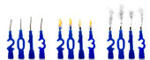 Candles 2012 status — Stock Photo