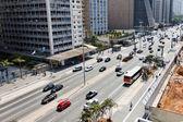 巴西圣保罗市-保利斯塔大街 — 图库照片