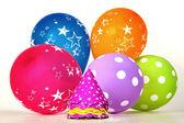 Vibrant party items — Stock Photo