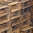 Piled crates — Stock Photo