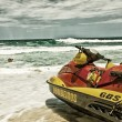 Fire department jet boat — Stock Photo