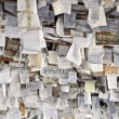 Stock Photo: Hung papers