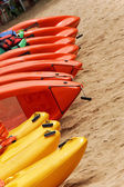 Kayaks for rent — Stock Photo