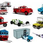 Transport illustration set — Stock Photo