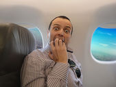 Fear of flying - Pteromerhanophobia — Stock Photo