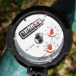 Stock Photo: Water meter - gauge