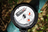 Water meter - gauge — Stock Photo