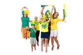 Brezilyalı hayranları kutluyor — Stok fotoğraf