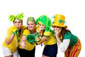 Brazilian girls celebrating — Photo