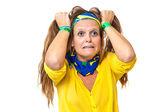 Wściekły zwolennikiem brazylijski — Zdjęcie stockowe