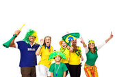 Brazilian fans celebrating — Stock Photo