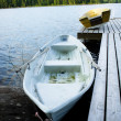 A boat on a lake — Stock Photo