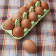 Stock Photo: Brownn eggs