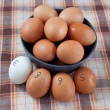 Eggs in a bowl — Stock Photo