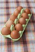 Brownn eggs — Stock Photo