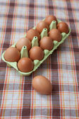 Brownn eggs — Stock Photo