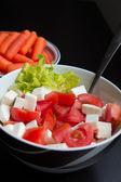 Closeup of a vegetable salad — Stock Photo