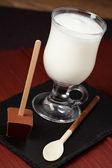 Milk and chocolate — Stock Photo