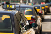 Barcelonese taxi's — Stock Photo