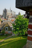 Leiden seen from fortified building — Stock Photo