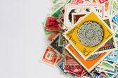 Stapel van postzegels — Stockfoto
