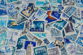 Blue stamps — Stock Photo