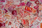 Red-orange stamps — Stock Photo
