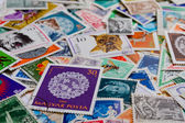 Stamps with selective focus — Stock Photo