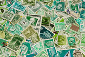Green stamps — Stock Photo