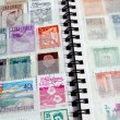 Close-up of stamp album — Stock Photo