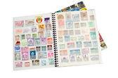 Postage stamp album — Stock Photo