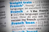 La parola francese nel dizionario — Foto Stock