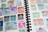 Close-up of stamp album — Stock Photo