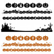 Halloween pumpkin line decoration in silhouette — Imagen vectorial