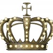 Vintage engraving style crown — Stock Photo