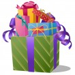 Pile of Gift Boxes on white background - EPS10 — Imagen vectorial