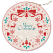 Christmas wreath tag — Stock Vector