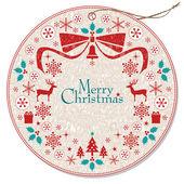 Christmas wreath tag — Stock Vector