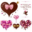 Set of  Valentine — Stock Vector