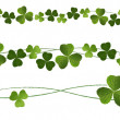 Vector de stock : Clovers Dividers