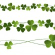 Vetorial Stock : Clovers Dividers