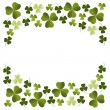 Stock Vector: Clover decoration corner