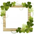 Stock Vector: Clover framed message board