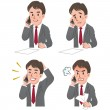 Expression of Businessman talking on the phone — Stock Vector #22226461