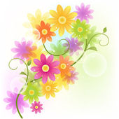 矢量非洲菊花卉背景 — 图库矢量图片