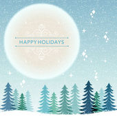 Winter Holiday background - snowing night — Stock Vector